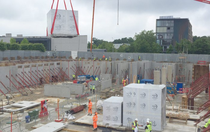 PCE delivered the 7 suspended floors of the structure totalling approximately 17000m2