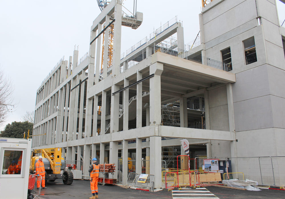 Offsite manufactured precast concrete famework by PCE
