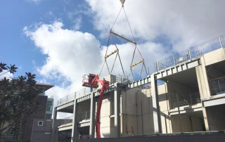 Offsite engineered structural Hybrid frame for the 9 storey 5 star deluxe hotel for the Dakota Boutique hotel