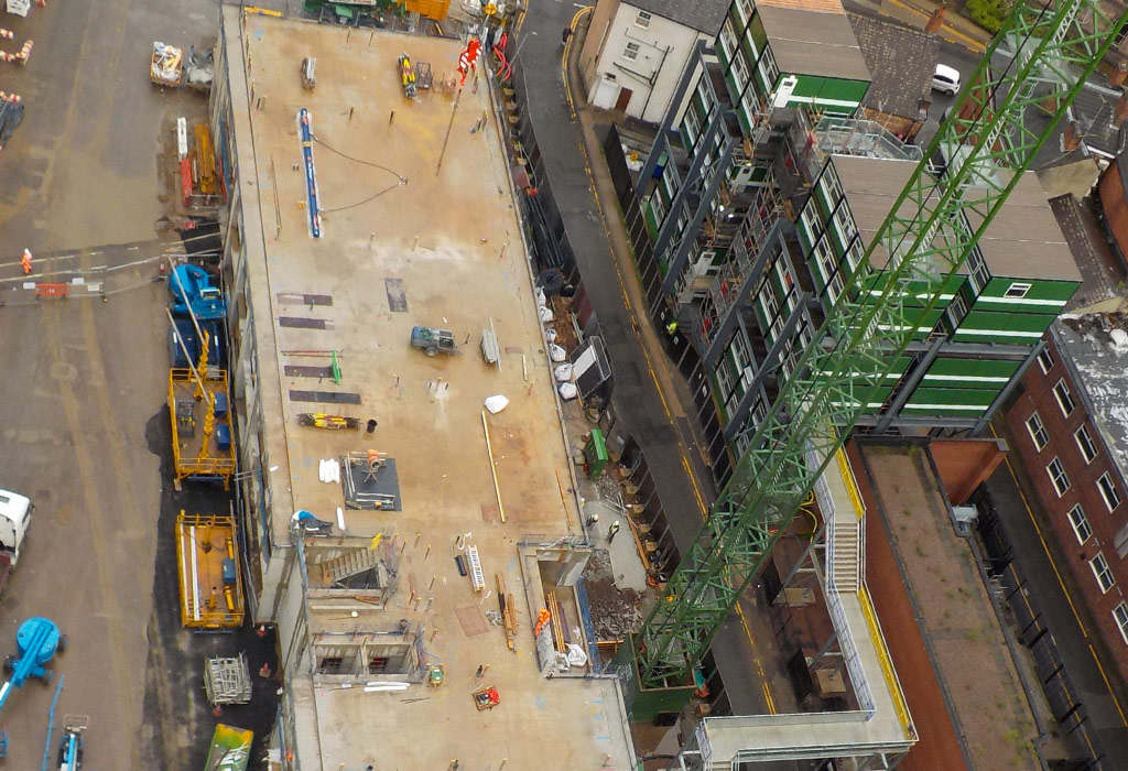 Four tower blocks up to 23 storeys tall being built by PCE