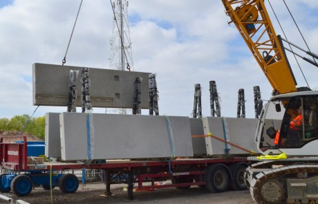 Delivery of PCEs precast concrete units to Blackpool