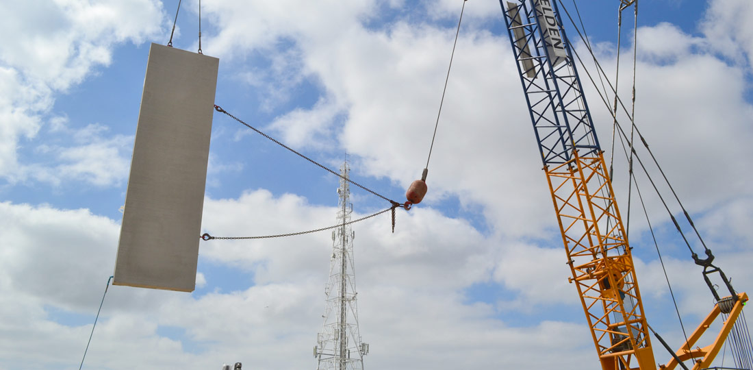 Onsite turning of offsite engineered precast units