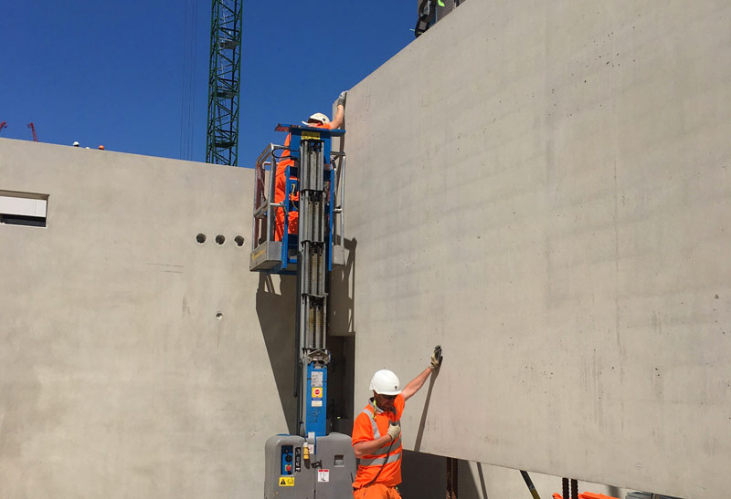 Precast concrete unit over 10 metres in length