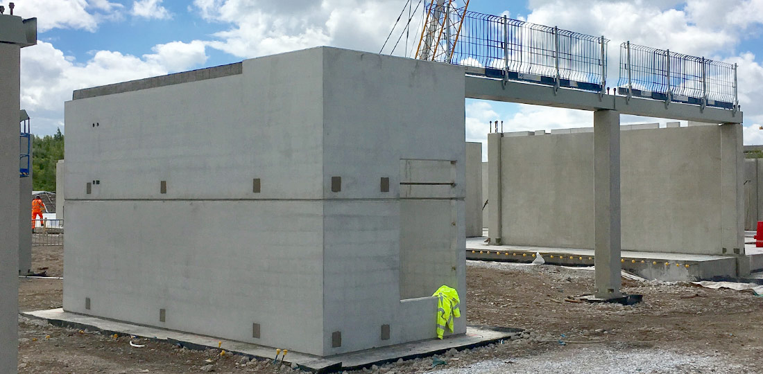The project featured PreFastCore precast concrete lift and stair boxes