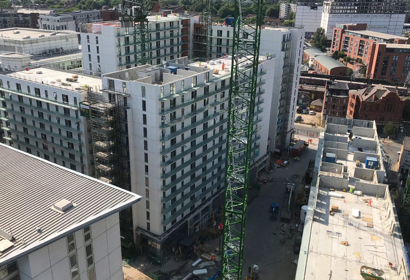 Blocks A B and C at Chapel Wharf development in Manchester