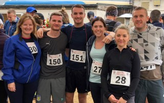 The PCE team racing for the Simon's Heroes charity