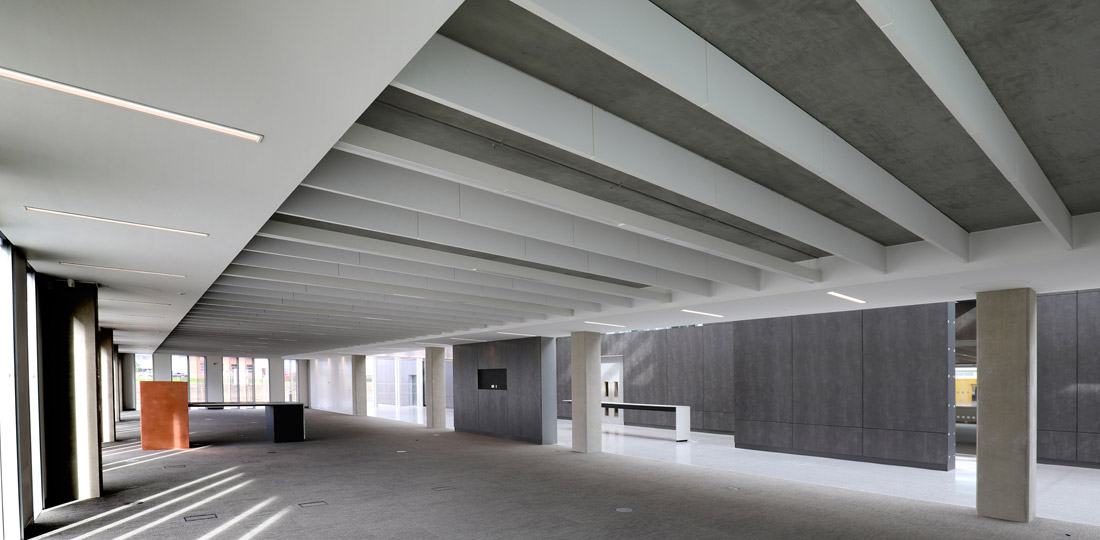Thermally Active Building System incorporated into the soffit of the PCE GT flooring units
