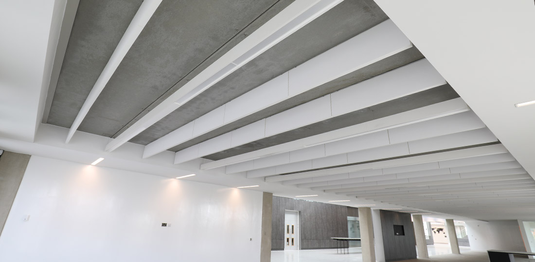 Feature soffits at CEF building in Durham