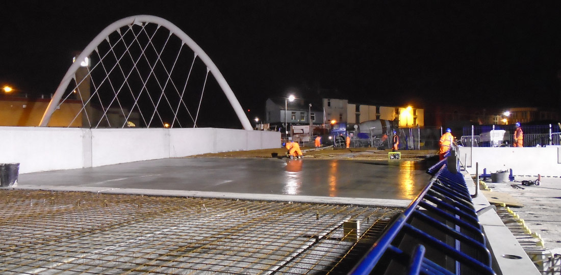 Night time construction carried out by PCE adjacent to two railway lines