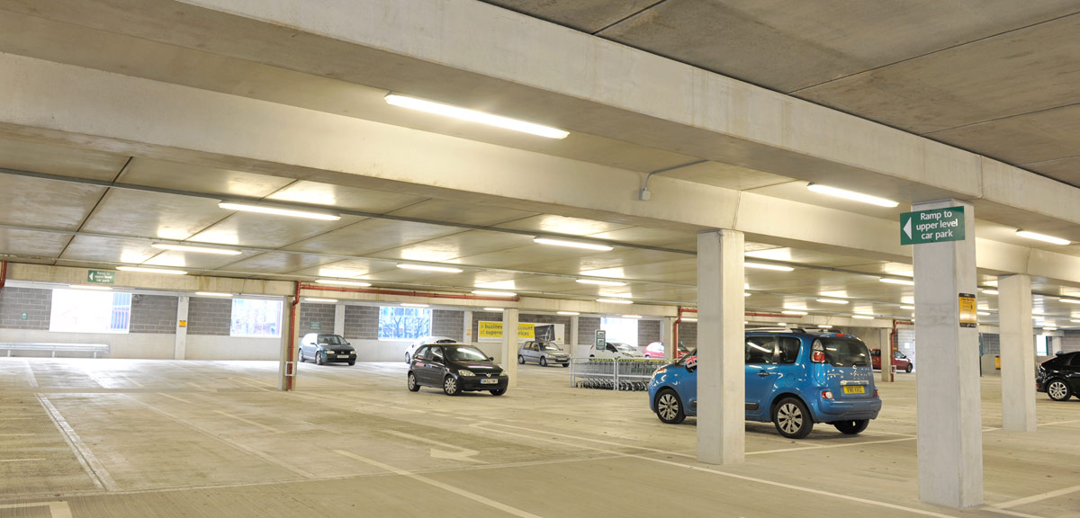 For multi storey Car Parks the GT Flooring solution minimises structural depth and does not require any onsite structural topping