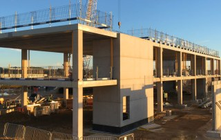 FaulknerBrowns chose structural concrete as the principal construction material including for the roof structure