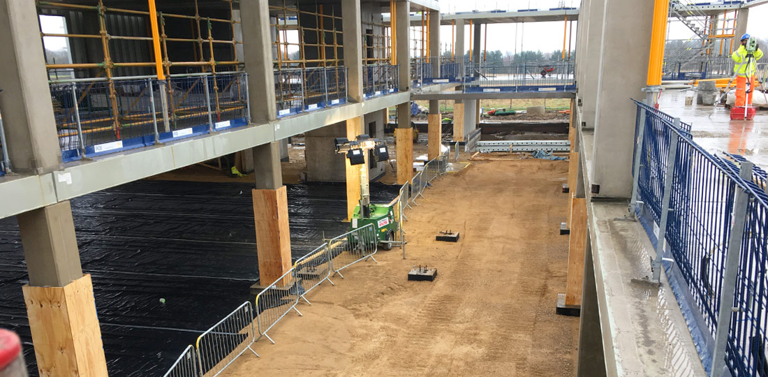 Both of PCEs suspended areas are linked at floor level by 3 bridging walkways