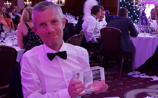 Award winner Simon Harold of PCE Ltd