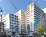 PCE's pre-glazed external architectural envelope in Manchester