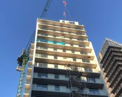 Offsite pre-glazed external architectural envelope and balconies
