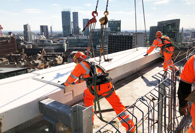The last offsite engineered structural precast unit has been successfully erected by PCE