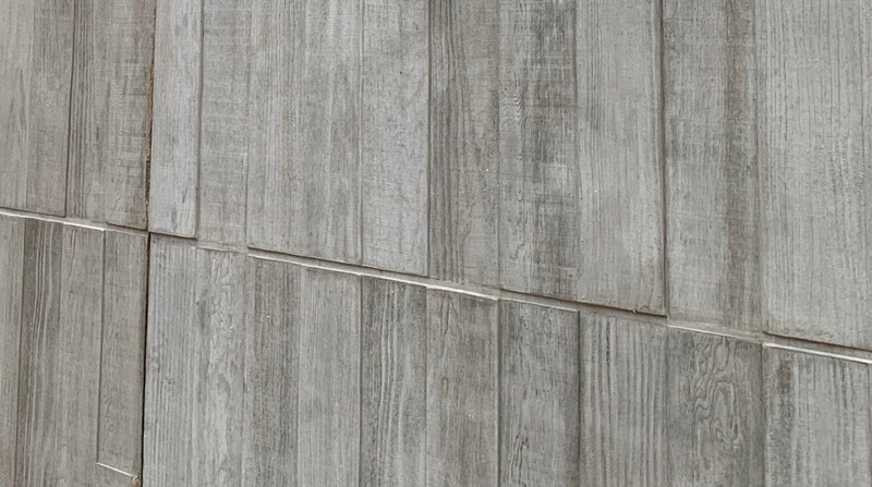 Close up of the wood effect of PCE's sandwich panels
