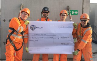 More support for Simon's Heroes from the PCE's NO6 construction project in east London