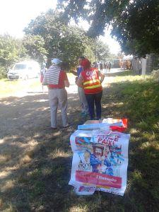 crozon bout du monde 2017 action militante PCF