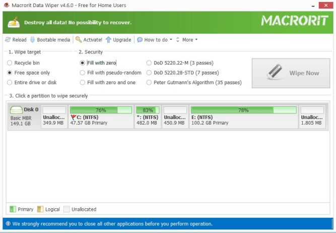 Macrorit Disk Partition wiper 4.6.0 Free