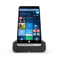 HP Desk Dock with HP Elite x3, Center, Front
