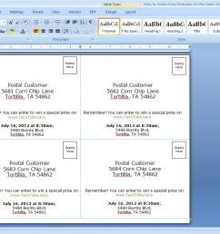 foak step 3b create a back for your postcards in microsoft word sup  [ 1360 x 768 Pixel ]
