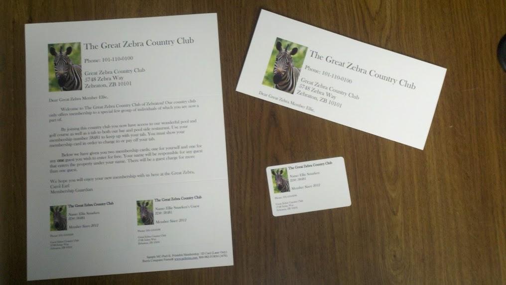 Beautiful Membership Card Sample Festooning
