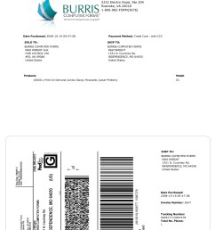examples of printed packing slip shipping label combinations  [ 2550 x 3300 Pixel ]