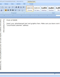 Step open eddm template in microsoft word also how to make your own every door direct mailers burris computer forms rh pcforms