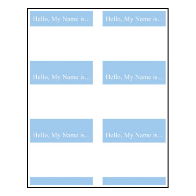 Ribbons Name Tag Template With Animals 13 Name Tag 1 My Name Is