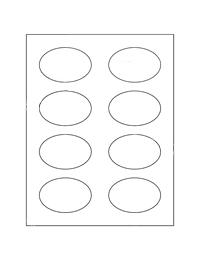 White Permanent Uncoated Oval Product Labels 8UP