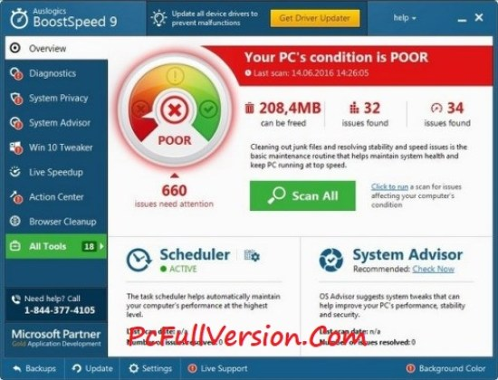 Auslogics BoostSpeed 9 Crack Download