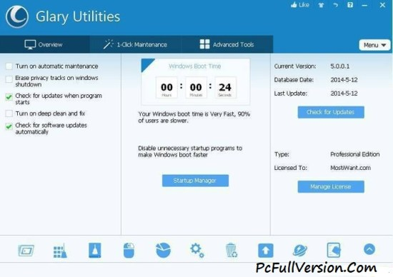 Glary Utilities Pro 5 Crack with Serial Key Free Download