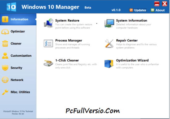 Windows 10 Manager Crack Download