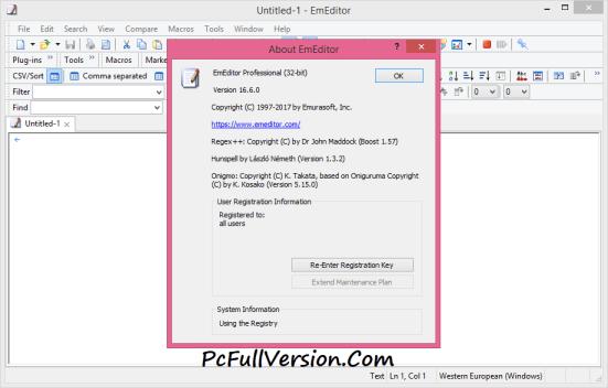 Emurasoft EmEditor Professional Crack Download