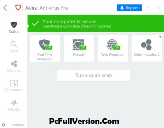 Avira Antivirus Pro 2018 Crack