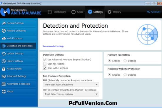 Malwarebytes Anti-Malware 3.6.1 Key