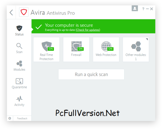 Avira Antivirus Pro 2018 Crack + License Key Full Download
