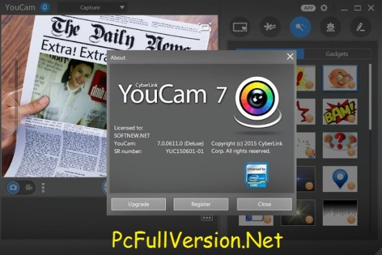 Cyberlink YouCam Deluxe 7 Serial Key Full Version Download