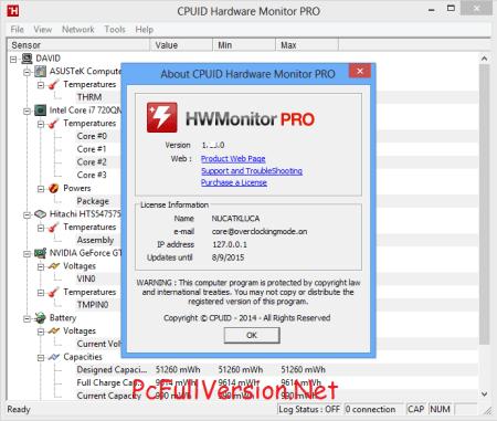HWMonitor PRO Crack License Key Free Download