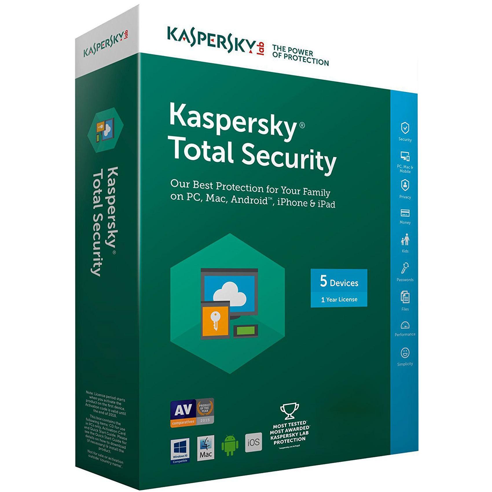 Kaspersky Total Security 2018 Activation Code