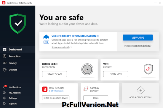Bitdefender Total Security 2019 License Key