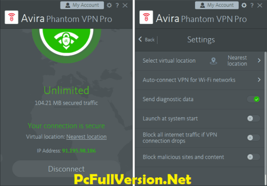 Avira Phantom VPN Pro Serial Key