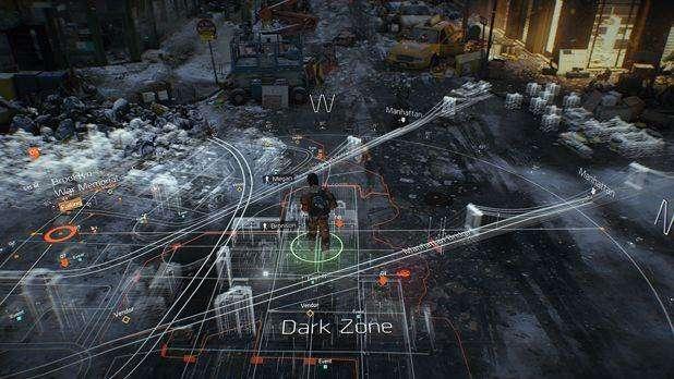 תמונת מסך מהצגת המשחק The Divison בתערוכת E3