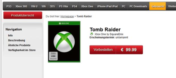 TOMB RAIDER גם לקונסולת הדור הבא של מיקרוסופט