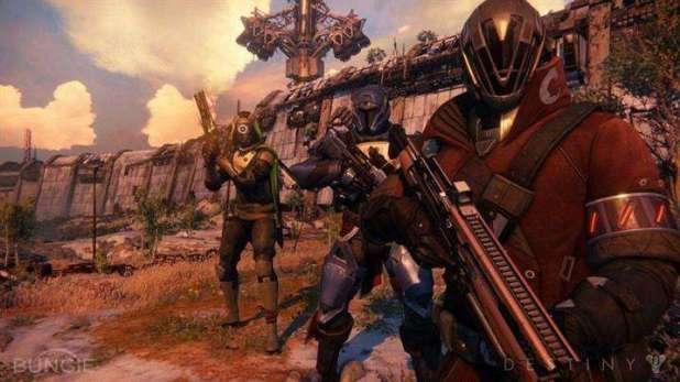 """ה""""שומרים"""" על איזור בכדור הארץ מהמשחק Destiny."""