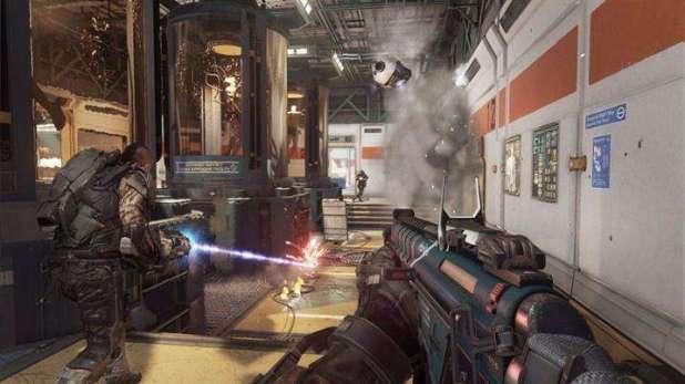 תמונה הנלקחה ממצב מרובה המשתתפים של המשחק Call of Duty: Advanced Warfare.
