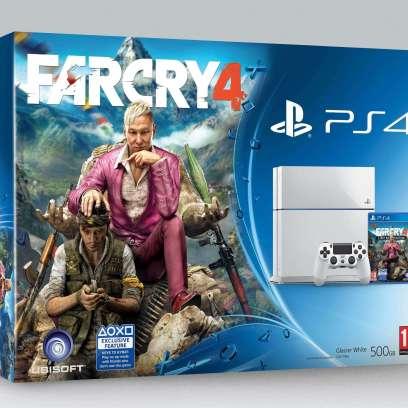 באנדל חדש עם מערכת PS4 לבנה הכוללת גם את המשחק Far Cry 4