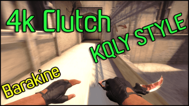 Counter Strike: Global Offensive - 4k Clutch Amazing KQLY style