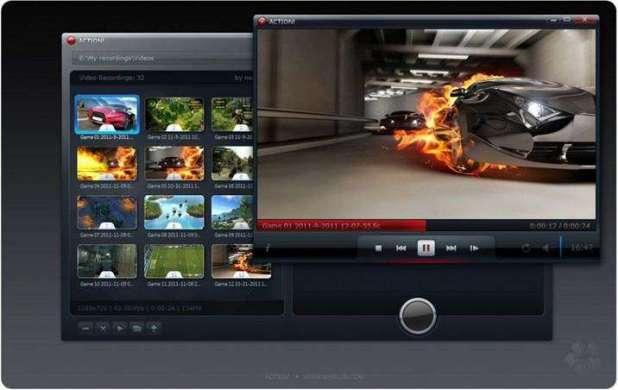 אפשרויות הקלטת וידאו בתוכנה Action!